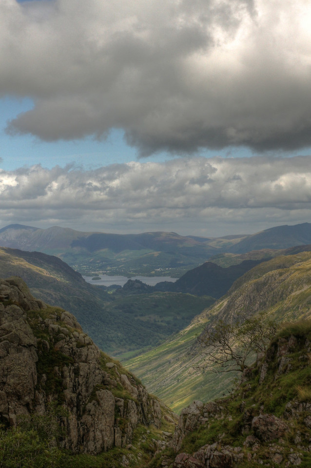 Derwent Water from descent from Great End