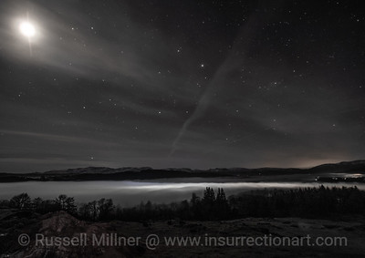 Wolf Full Moon over Lake Windermere