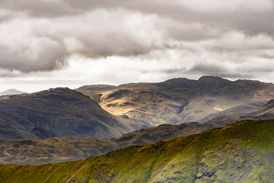 Fairfield Horseshoe from Dove Crag, Lake District, Cumbria, England