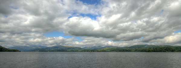 Wide angle Lake Windermere HDR