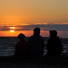 Family Summer Sunset Lakeside