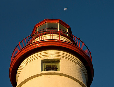 Marblehead Light House Moon Shot.