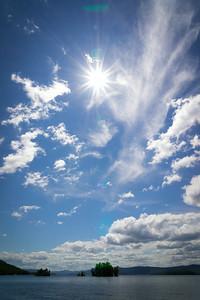 Blue lake sky
