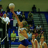 Frances Trenta goes up to tip the ball over net