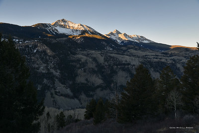 Sunshine Mountain, Wilson Peak at Sunrise