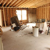 View from what will be a kitchen with an 8 ft island into the great room.