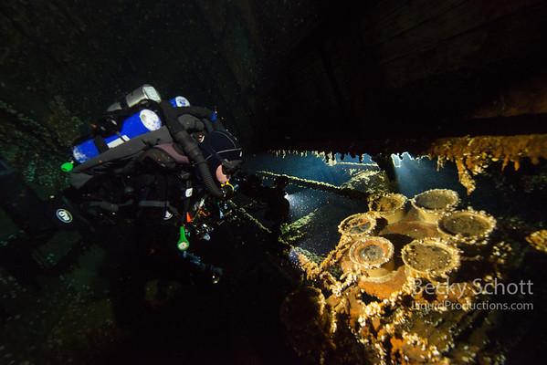 Norman gauges inside the engine room