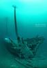 Schooner Spangler with diver in distance