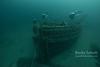 CCR dives on the E.B. Allen schooner's bow