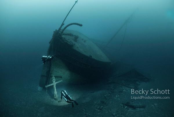 Wreck of the Norman in Presque Isle Michigan