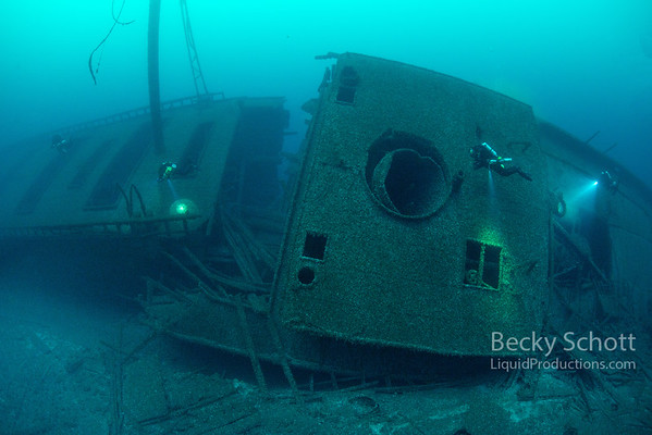 Wreck of the Norman collision damage