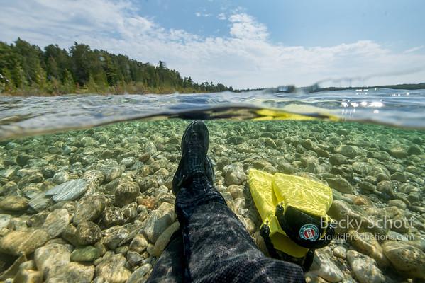 Relaxing in Lake Huron