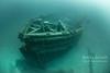 Schooner E.B. Allen in 100ft of water in Thunder Bay Marine Sanctuary