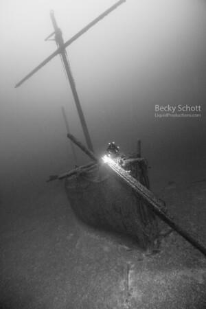 Cornelia B. Windiate forward mast intact