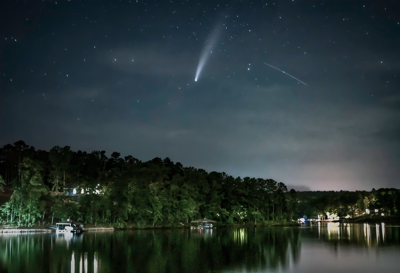 Neowise Comet Over Keowee (1)