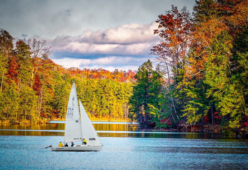 Lake Keowee Autumn Sailing