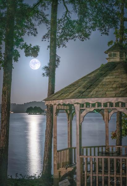 Gazebo Moon Rise