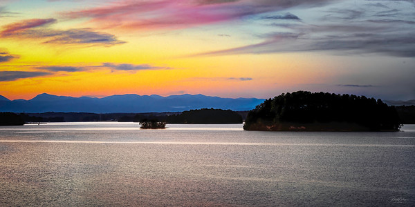 Lake Keowee Sunset Pano