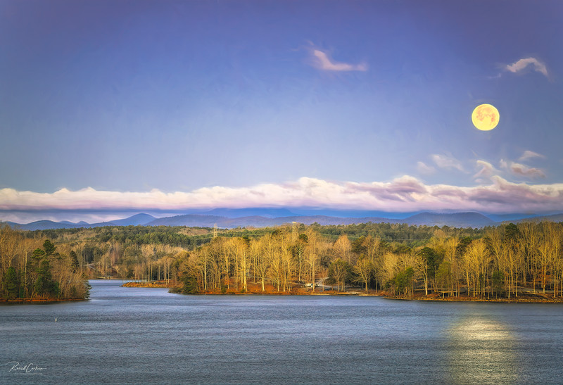 Full Moon Over Lake Keowee from Gap Hill (3)