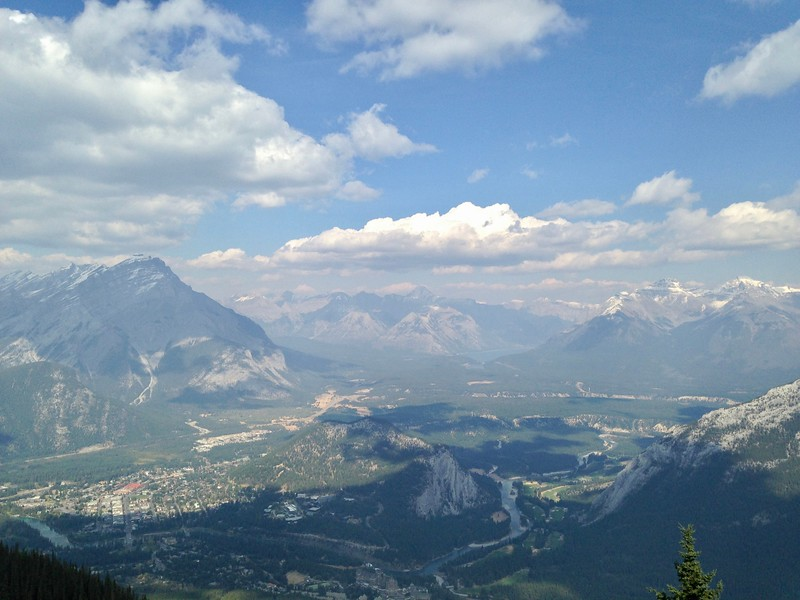 Banff from Sulfer Mountain Banss