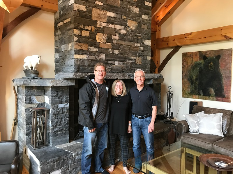 Jim with his boss's parents in Canmore