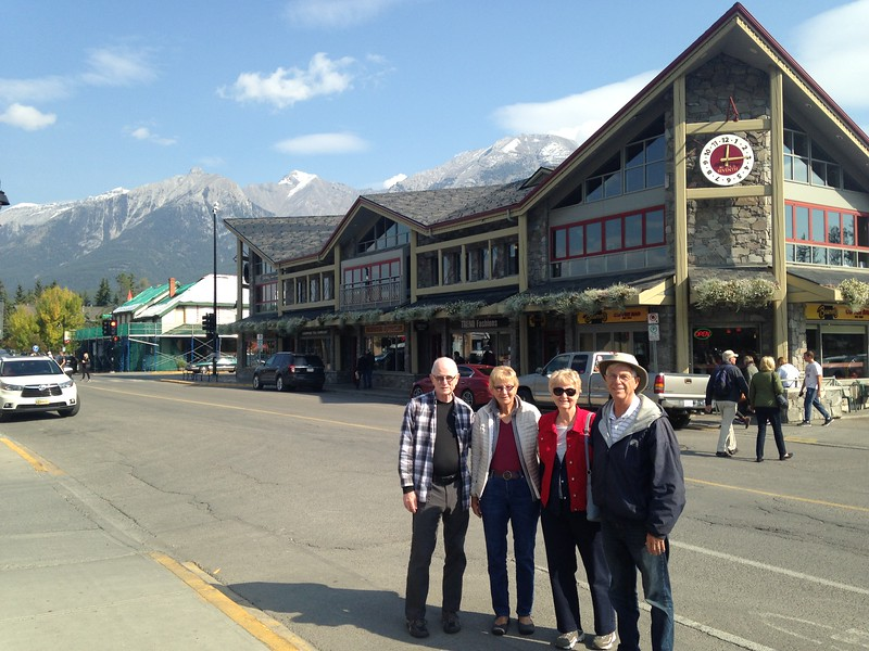 Lloyd, Liz, Louise & Larry in Canmore