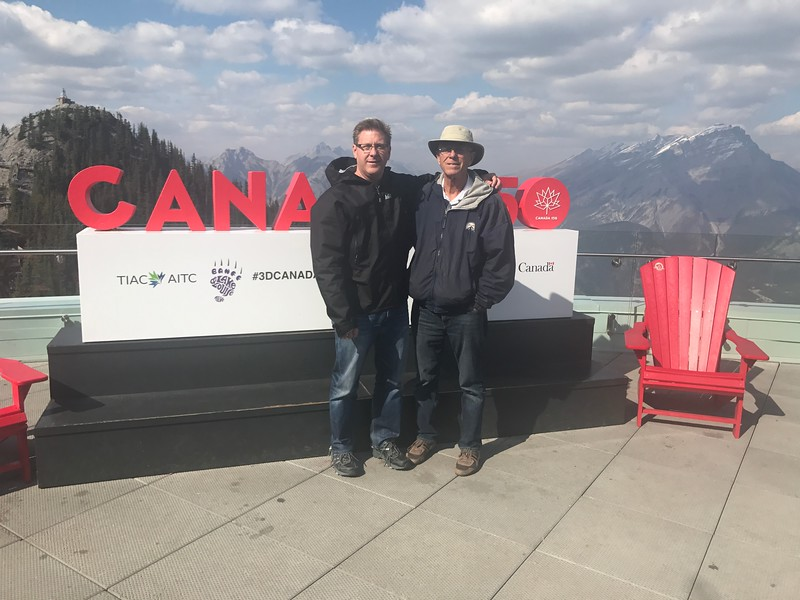 Jim & Larry Miller after getting off Banff Gondola
