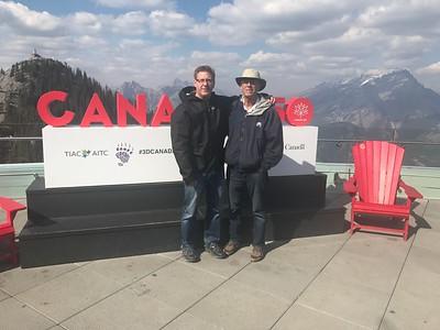 Jim & Larry Miller after getting off Banff Gondola