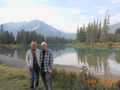 Liz & Lloyd Bow River Banff