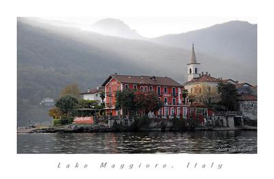 Isola Pescatore, Lago Maggiore.   Shot near sunset in October, 2008.