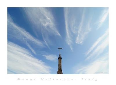 Cross atop Mount Mottarone near Lago Maggiore