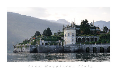 View of gardens on Isola Bella, Lake Maggiore.