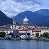 Town along Lake Maggiore.