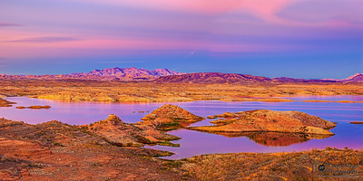 """Magic in the Desert,"" Lake Mead Sunset, Lake Mead National Recreation Area, Nevada"