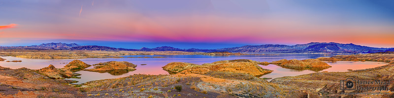 """Venus's Belt,"" Sunset Reflections on Lake Mead, Lake Mead National Recreation Area, Nevada"