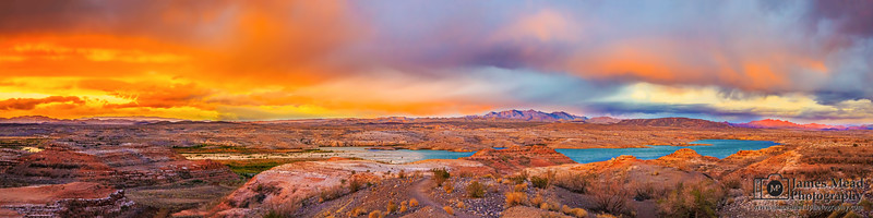 """""""Desert Oasis,"""" Lake Mead at Sunset, Lake Mead National Recreation Area, Nevada"""