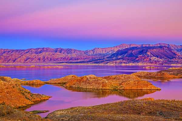"""""""Desert Canvas,"""" Sunset over Lake Mead, Lake Mead National Recreation Area, Nevada"""