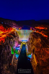 """Tillman's View,"" Night over Hoover Dam, Lake Mead National Recreation Area, Nevada - Arizona"