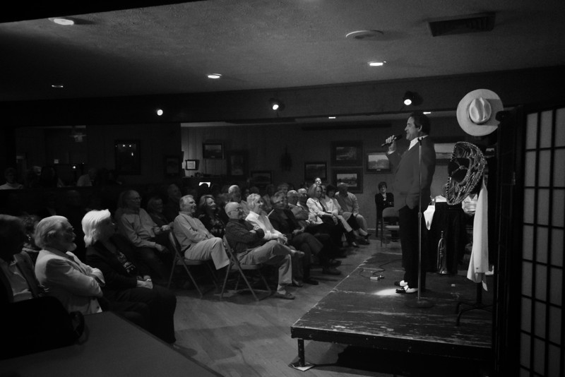 Joey Vincent's One-Man Musical Comedy Show performed at the Lake Naomi Clubhouse.