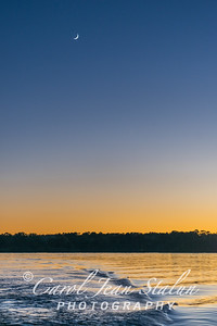 Crescent Over Lake Oconee