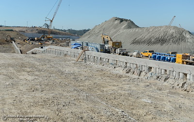 The cut-off wall is seen during a tour of ongoing construction at the Lake Oroville Dam Spillway area Wednesday, July 11, 2018.  (Bill Husa -- Enterprise-Record)