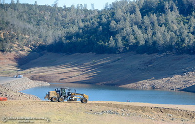 Construction is underway on a road near the Lake Orovile Dam seen during a tour of ongoing construction at the Lake Oroville Dam Spillway area Wednesday, July 11, 2018.  (Bill Husa -- Enterprise-Record)