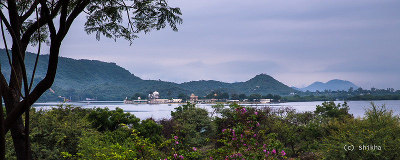 Jag Mandir -  The hills had sprung to life in monsoon. Does this remind you of Western Ghat in rains?<br /> <br /> Exposed for 1.3 secs @70 mm ISO 50, Aperture f/10. Used Hoya NDx64 to allow for more exposure time.