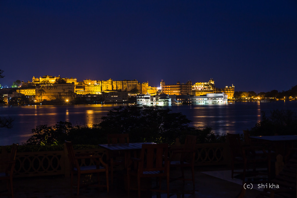 City Palace and the Taj Lake Palace dazzle at night<br /> <br /> Exposed for 5 secs @67 mm ISO 100, Aperture f/5.6