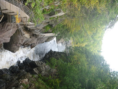 he Ausable River forms the gorge.