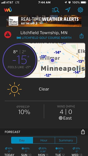 Really cold where I was headed for my ice trackchasing today.