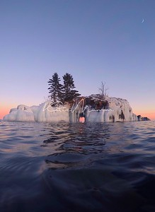 Hallow Rock Dressed in White