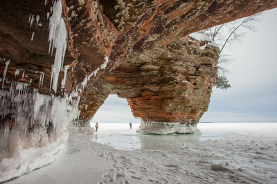 "APOSTLE ISLANDS 0400  ""Winter Sea Cave and Arch - Apostle Islands National Lakeshore"""