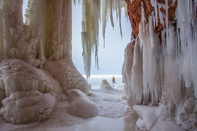 "APOSTLE ISLANDS 0362  ""Sea Cave Ice - Apostle Islands National Lakeshore"""