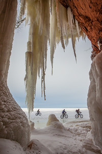 "APOSTLE ISLANDS 0376  ""Fat Biking the Apostle Island Sea Caves"""